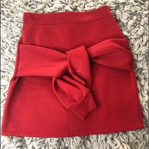 high waisted front tie skirt
